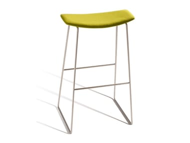 High sled base stool with integrated cushion TIC 530T