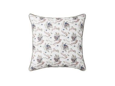 Federa double face stampata in lino con motivi floreali TIFFANY | Federa