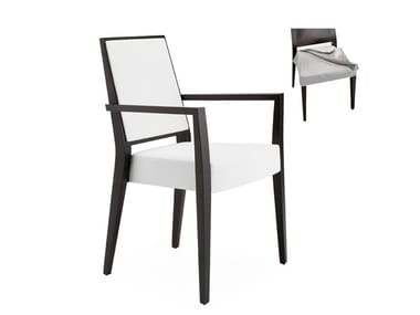 Stackable chair with removable cover with armrests TIMBERLY 01725