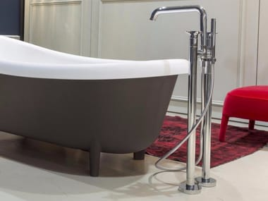 Floor standing bathtub tap with hand shower TIMBRO | Bathtub tap