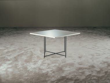 Lacquered square coffee table TIME | Square coffee table