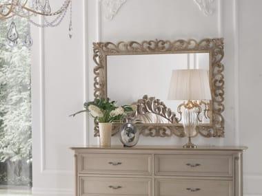 Rectangular framed wall-mounted mirror TIMELESS 2588