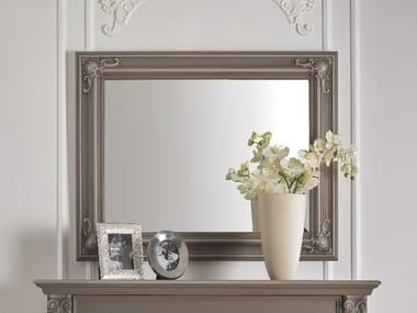 Rectangular framed wall-mounted wooden mirror TIMELESS 2674