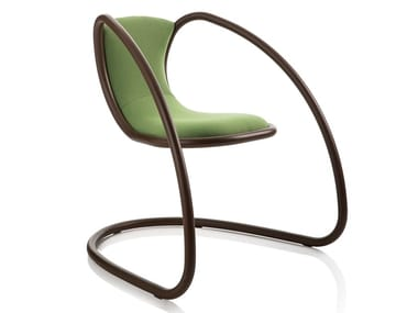 Cantilever upholstered fabric chair TIMELESS   Cantilever chair