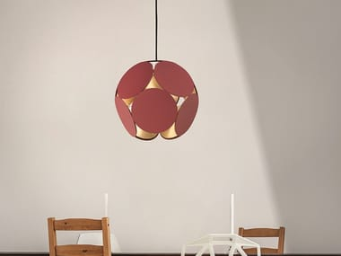 LED painted metal pendant lamp TIMEO S1 35