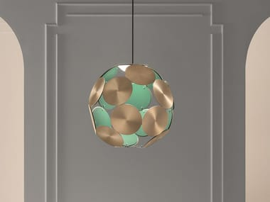 LED painted metal pendant lamp TIMEO S1 50