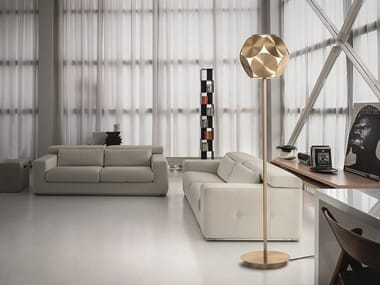 Lámpara de pie LED de metal revestido TIMEO STL