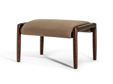 Upholstered fabric footstool TIMES LOUNGE | Fabric footstool