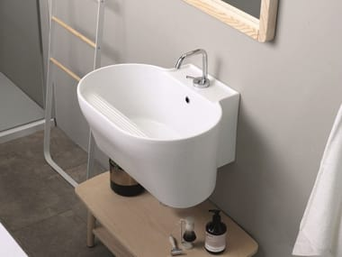Ceramic washbasin / utility sink TINO