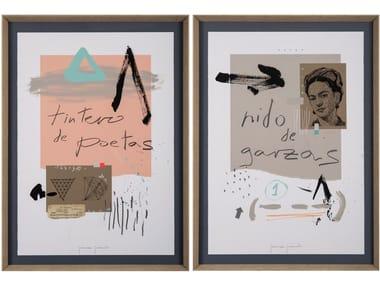 Paper Painting Tintero de poetas & Nido de garzas