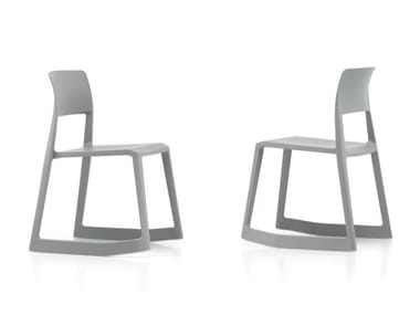 Stackable open back recycled plastic chair TIP TON RE
