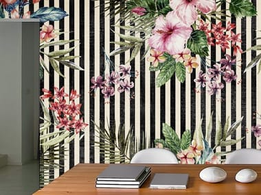 Ecological washable PVC free wallpaper TIPICAL TROPICAL