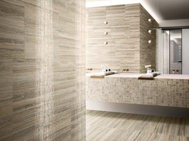 Porcelain stoneware wall/floor tiles with travertine effect TIPOS SAND