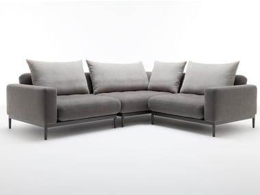 Sectional fabric sofa ROLF BENZ 370 TIRA | Corner sofa