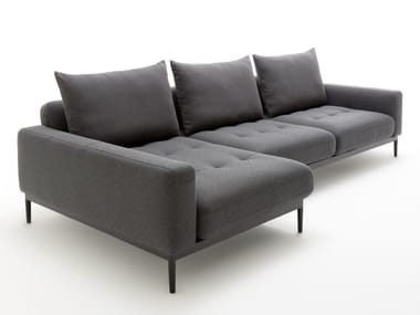 Sectional fabric sofa with chaise longue ROLF BENZ 370 TIRA | Sofa with chaise longue