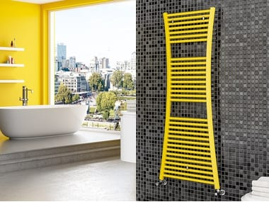 Vertical wall-mounted steel towel warmer TIRE