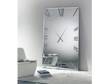 Mirror / clock TITANIUM | Rectangular mirror