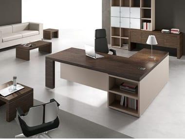 L-shaped office desk with shelves TITANO   L-shaped office desk