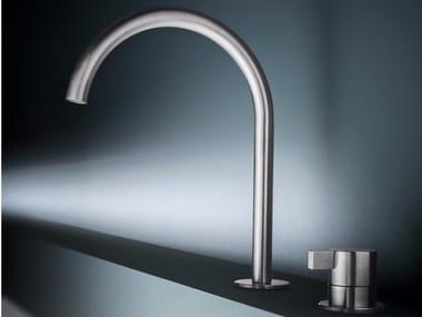 2 hole countertop stainless steel kitchen mixer tap TKI32 | Kitchen mixer tap