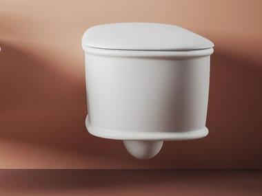 Wall-hung ceramic toilet ATELIER | Toilet