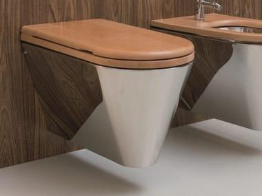Hängendes WC aus Edelstahl und Holz JOHN & MARY | WC