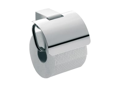 Metal toilet roll holder with cover MUNDO | Toilet roll holder with cover
