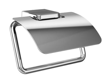 Metal toilet roll holder with cover TREND | Toilet roll holder with cover