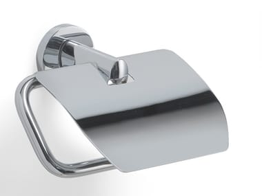 Brass toilet roll holder with cover DEMETRA | Toilet roll holder with cover