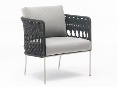Upholstered easy chair with armrests TOMBOLO