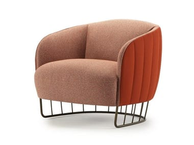 Fabric armchair with armrests TONELLA | Armchair with armrests