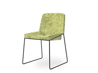 Sled base fabric chair TONIC METAL   Chair