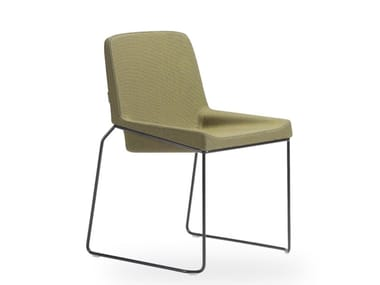 Sled base stackable chair TONIC METAL   Stackable chair