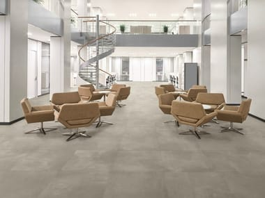 Porcelain stoneware flooring with concrete effect TOOL