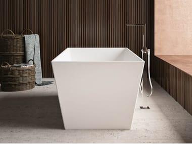 Vasca da bagno centro stanza rettangolare in Kstone TORINO