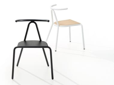 Stackable multi-layer wood chair TORO | Multi-layer wood chair