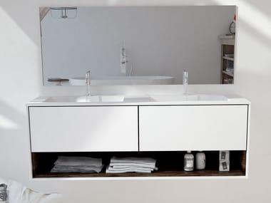 Double wall-mounted Corian® vanity unit TORONTO CARTHAGE | Double vanity unit
