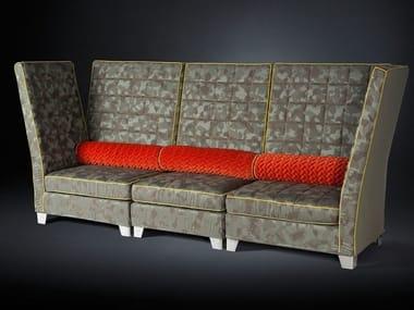 Modular high-back fabric sofa TOSCA