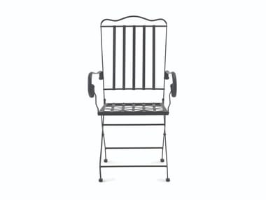 Iron chair with armrests TOSCANA | Chair with armrests