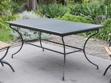 Ausziehbarer rechteckiger Tisch aus Eisen TOSCANA | Rechteckiger Tisch