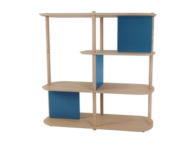 Modular wooden shelving unit TOSCANE