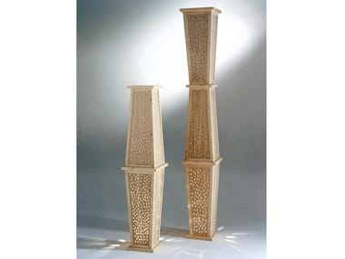 Handmade wooden floor lamp TOTEM DI LUCE