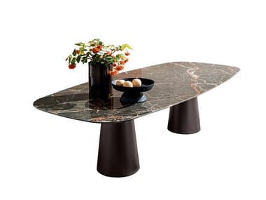 Rectangular ceramic table TOTEM | Rectangular table