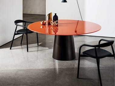 Round glass table TOTEM | Round table
