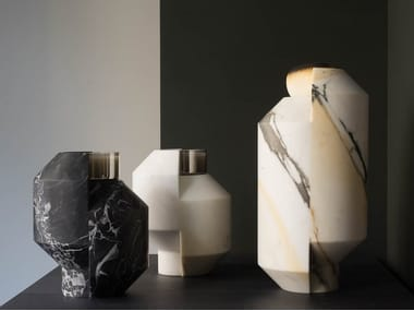 Marble candle holder TOUCANA