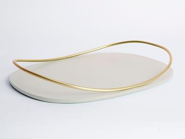 Vassoio ovale in MDF e ferro TOUCHÉ C