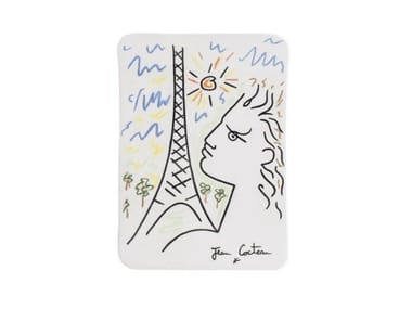 Rectangular ceramic plate TOUR EIFFEL | Plate