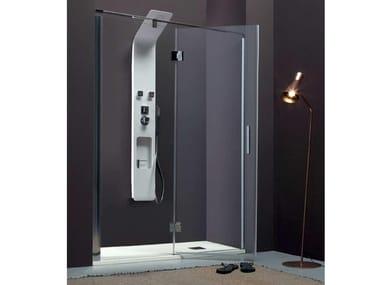 Box doccia a nicchia con porta a battente TPB72 | Box doccia a nicchia