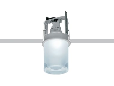 Recessed glass and aluminium ceiling lamp CUP | Ceiling lamp