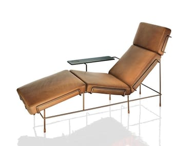 Leather lounge chair TRAFFIC | Lounge chair