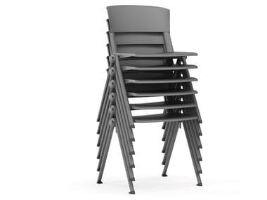Stackable polypropylene training chair YUGEN   Training chair